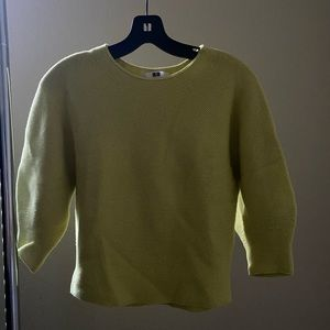 Uniqlo lime green sweater.